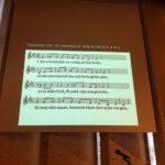 Schermafbeelding: 4 regels met melodie.